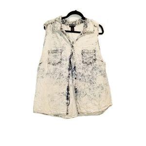 Vintage Cotton Express Plus Acid Wash Sleeveless